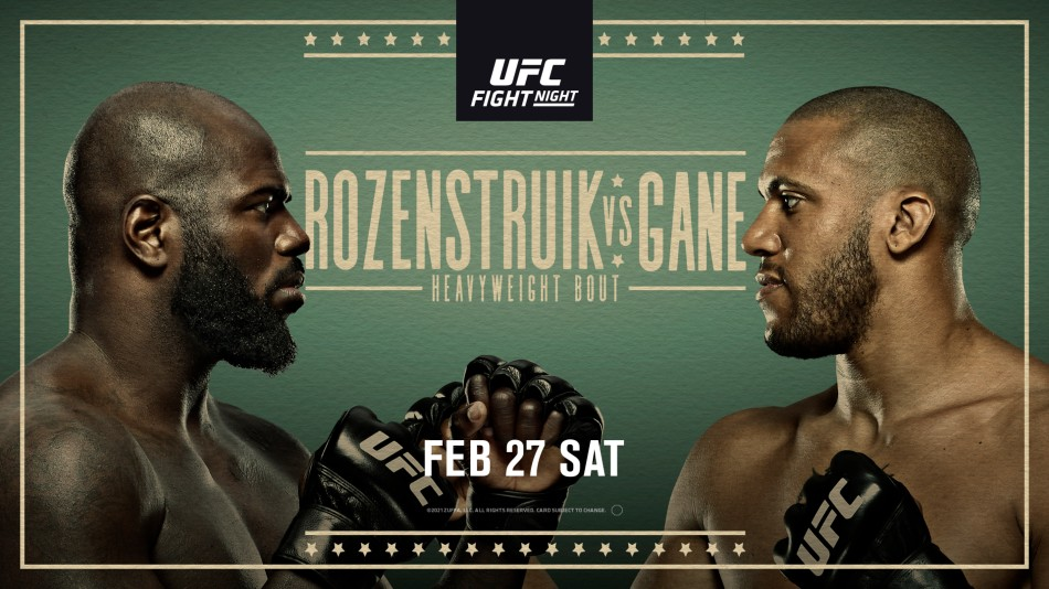 UFC Vegas 20: Rozenstruik vs. Gane fight card, date, time in India and  where to watch - myKhel
