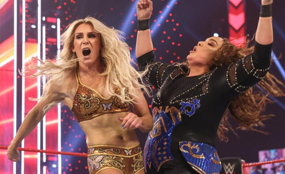 Charlotte Flair in action on Raw (image courtesy WWE.com)