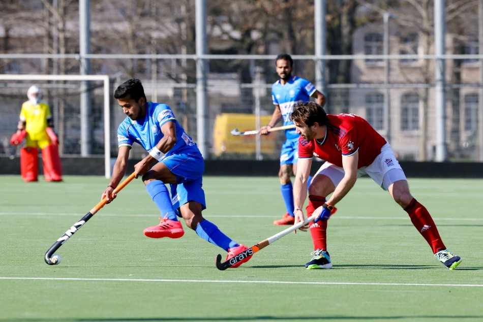 Simranjeet's late strike helps India hold Great Britain to a 1-1 draw