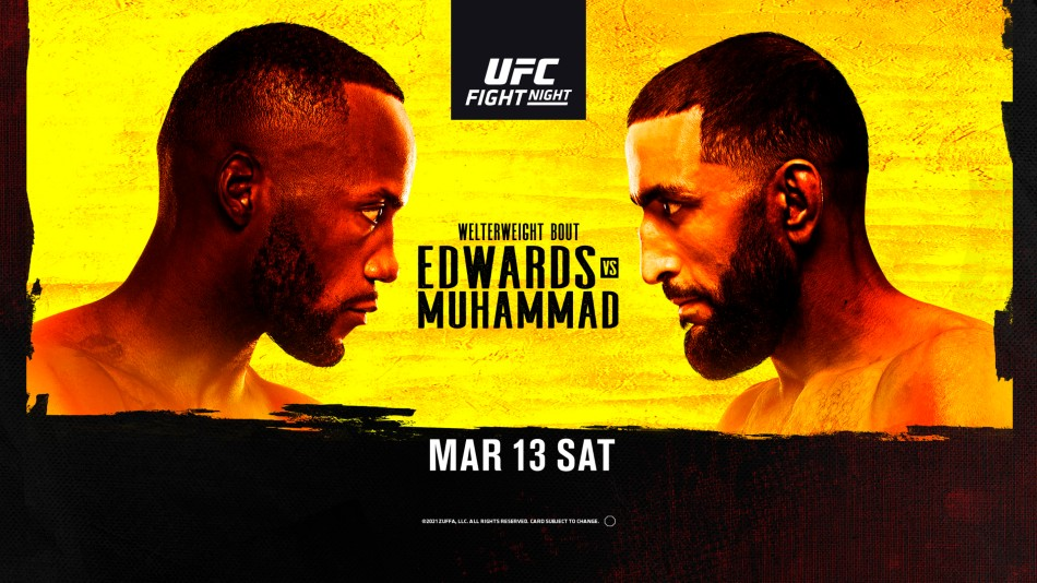 UFC Vegas 21: Edwards vs. Muhammad fight card, date, start time in India  and where to watch - myKhel