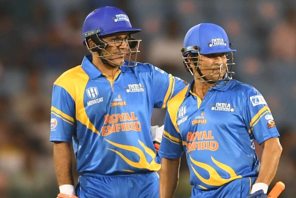 Road Safety World Series 2021: Virender Sehwag's ruthless 35-ball 80* guides India Legends to big win
