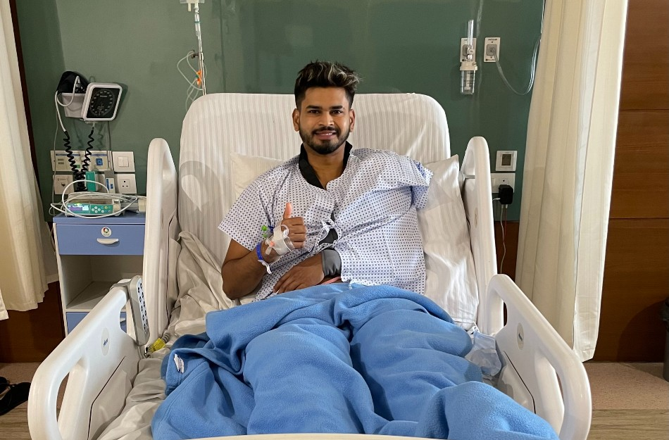 Shreyas Iyer undergoes surgery, vows to return in no time (Image Courtesy: Twitter)