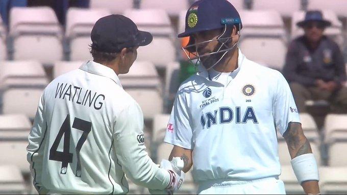 WTC Final: Virat Kohli congratulates BJ Watling on his last day in international cricket, ICC lauds Kohli
