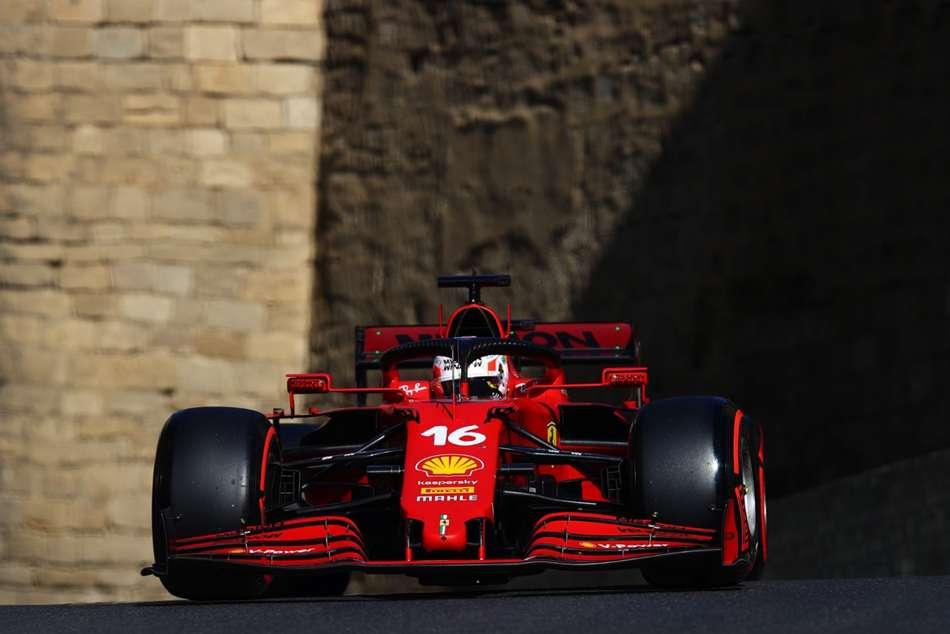 F1 2021 Azerbaijan Grand Prix Charles Leclerc On Pole After Crash Heavy Qualifying