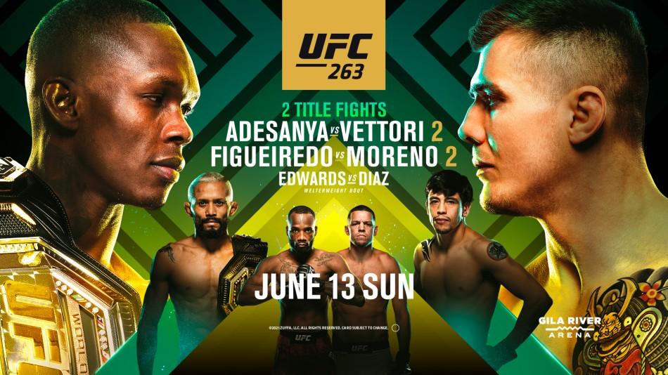 Watch UFC 263: Adesanya vs. Vettori 6/12/21