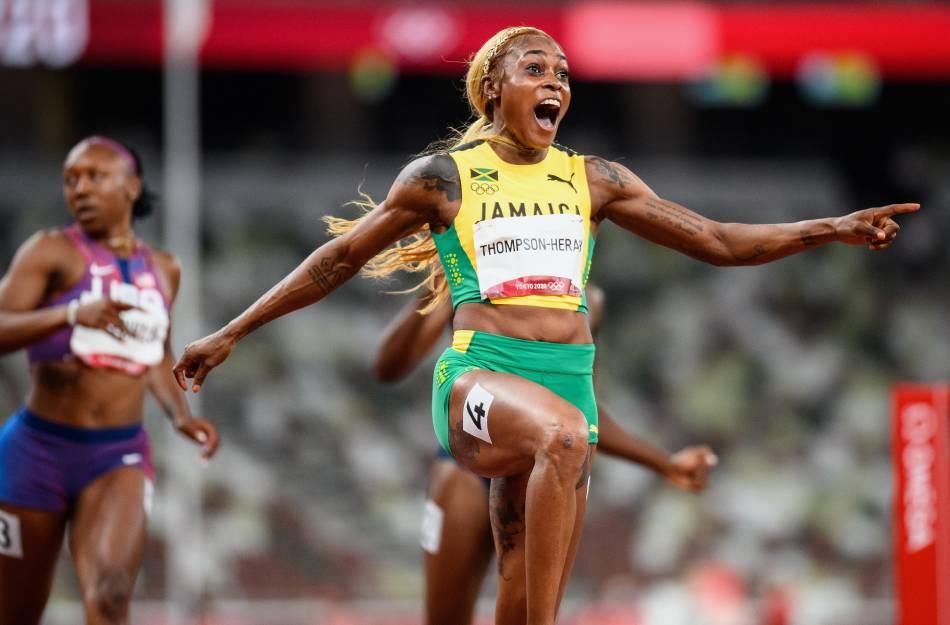 Tokyo 2020: Elaine Thompson-Herah completes sprint 'double-double'