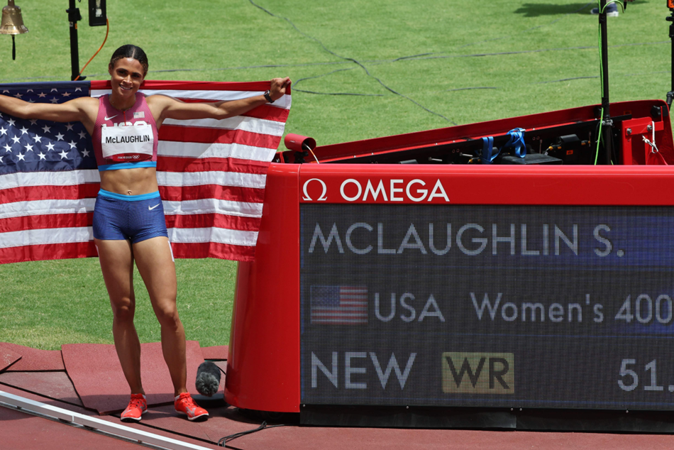 McLaughlin sets record, wins 400M Hurdle
