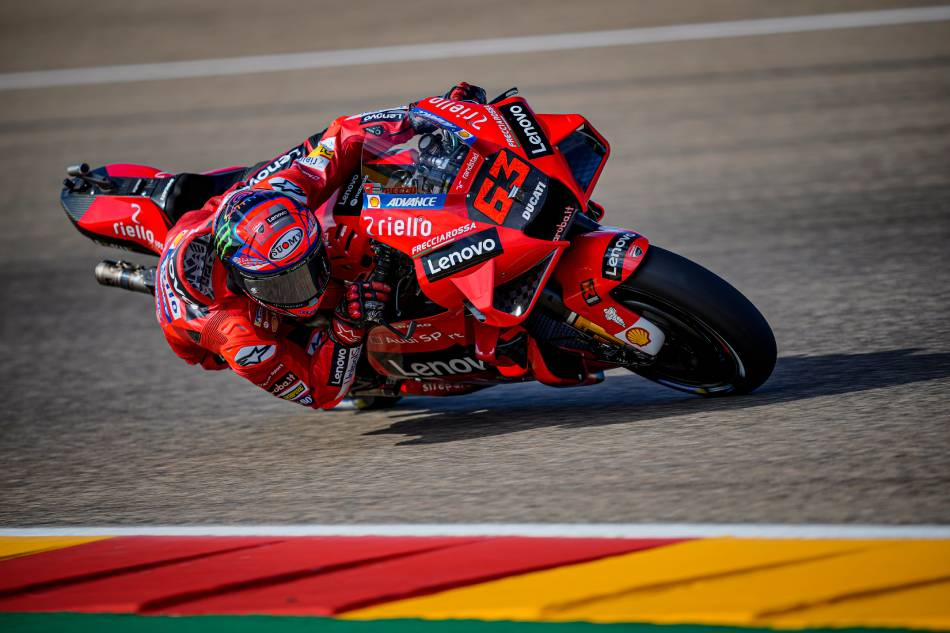 It's a Ducati 1-2 in Aragon as Bagnaia smashes lap record