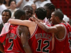 Chicago Bulls Visit Big Fan President Obama At The White H