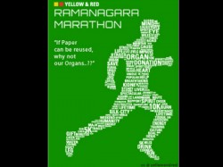 Ramanagara Marathon On February 1 2015 Create Awareness Organ Donation