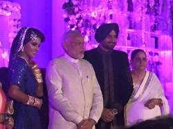 Harbhajan Singh Geeta Basra Wedding Reception Dhoni Kohli Modi Celebs Pics 1915968 Pg