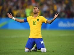 Rio Olympics 2016 Neymar Guides Brazil Maiden Football Gold