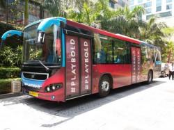 Ipl 2017 Rcb Take Bmtc Bus Stadium Match Against Kkr Promote Public Transport