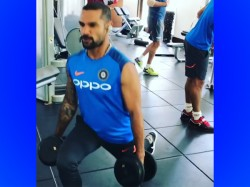 India Vs West Indies Shikhar Dhawan Trains At Gym With Hardik Pandya Virat Kohli