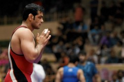 Wrestling Sushil Kumar Walks Over A Gold Sakshi Malik Geeta Phota Excel