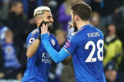 Leicester City 3 Huddersfield Town 0 Mahrez Slimani Stop The Rot For Puel