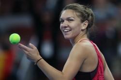 Simona Halep Cici Bellis Qatar Open Quarter Final Garbine Muguruza