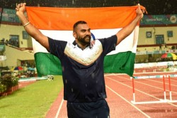Tejinder Clinches Silver Asian Indoor Meet