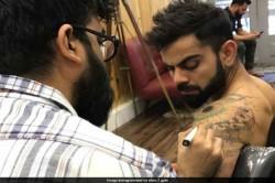 Virat Kohli Inks A New Tattoo On His Shoulder