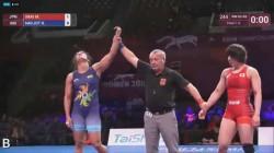 Navjot Kaur Creates History Wins Gold In Asian Wrestling