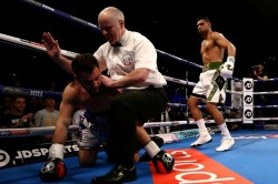 Amir Khan Makes Up Lost Time With 40 Second Lo Greco Knockout