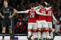 Europa League Ramsey Lacazette Put Arsenal Charge