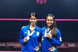 Cwg Medallists Pallikal Chinappa Arrive Home Warm Welcome