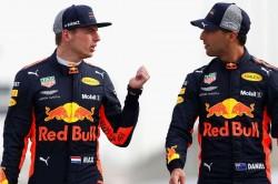 Daniel Ricciardo Max Verstappen Red Bull Crash Azerbaijan Grand Prix