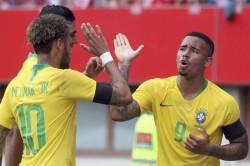 Touchdown Brazil Arrive Russia Ahead World Cup