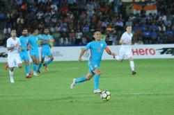 Intercontinental Cup 2018 Chhetri Scores Benzema Like Goal New Zealand India