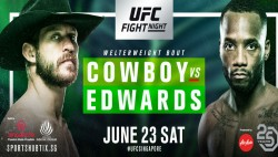 Ufc Fight Night 132 Cowboy Vs Edwards Fight Card Tv Schedule