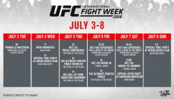 Ufc International Fight Week Takes Over Las Vegas From July