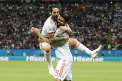 Diego Costa Spotted Trying Stop Spain Teammate Koke From Taking Vital Penalty