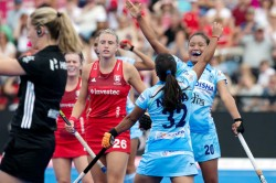 Hockey Women S World Cup India 1 1 England Lily Owsley Cancels Neha Goyal
