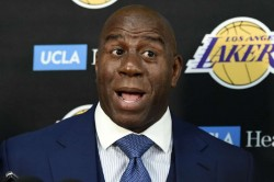 Magic Johnson Lebron James Los Angeles Lakers Personal Decisions Trades Nba News Cavaliers