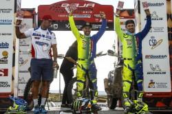 Sherco Tvs Factory Rally Team S Michael Metge Wins Baja Aragon