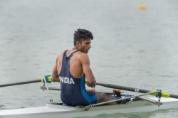 Asian Games 2018 Dushyant Wins Bronze Lightweight Sculls Rowing
