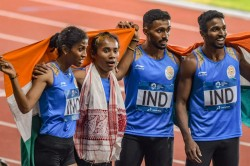 Asian Games 2018 India Clinch Silver Debut Event 400m Relay Race
