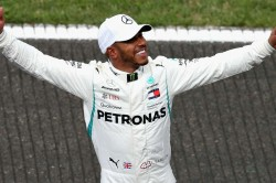 F1 Hamilton Shines After Spa Shower Take Pole At Belgium Grand Prix