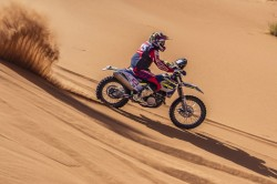 Panafrica Rally Sherco Tvs Factory Rally Team Dominate Stage 1 Aravind Pulls Out Due Injury