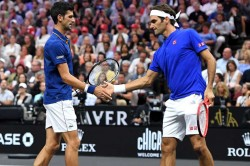 Novak Djokovic Roger Federer Watch Laver Cup