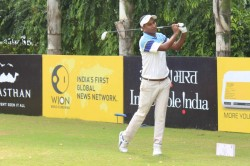 Zamal Hossain Mollah Shoots 64 Move Into Second Round Lead At Jaipur Open