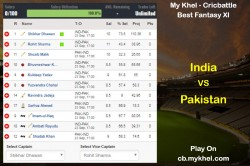 Mykhel Fantasy Tips India Vs Pakistan On September