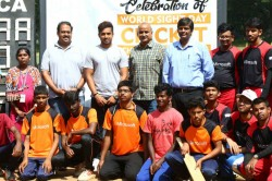 Karun Nair Joins Blind Cricket Players Observe World Sight Day