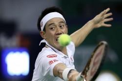 Nishikori Denies Thiem To Boost Finals Hopes Federer Struggles Through