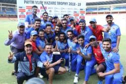 Vijay Hazare Trophy Mumbai Outclass Delhi To Lift Title