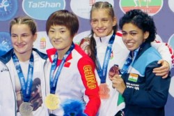 Wrestling Pooja Dhanda Clinches Bronze Medal At World Championships Sakshi Malik Ritu Phogat
