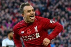 Xherdan Shaqiri Liverpool Premier League Everton