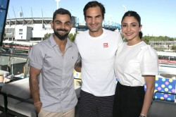 Kohli Meets Roger Federer Finishes Australian Summer Style