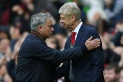 Jose Mourinho Salutes Arsene Wenger Alex Ferguson